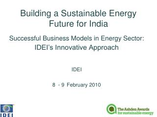 Building a Sustainable Energy Future for India