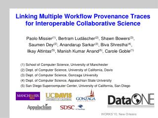 Linking Multiple Workflow Provenance Traces for Interoperable Collaborative Science