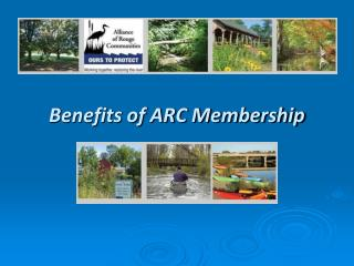 Benefits of ARC Membership