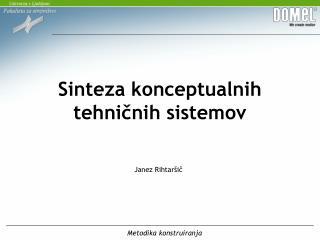 Sinteza konceptualnih tehničnih sistemov
