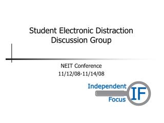 Student Electronic Distraction  Discussion Group
