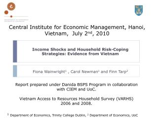 Income Shocks and Household Risk-Coping Strategies: Evidence from Vietnam
