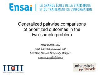 Generalized pairwise comparisons of prioritized outcomes in the  two-sample problem