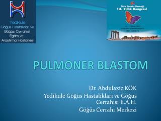 PULMONER BLASTOM