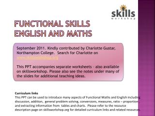 Functional Skills  English and MAths