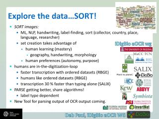 Explore the data�SORT!
