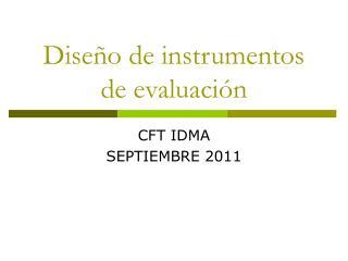 Dise�o de instrumentos de evaluaci�n
