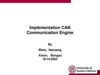 Implementation CAN Communication Engine