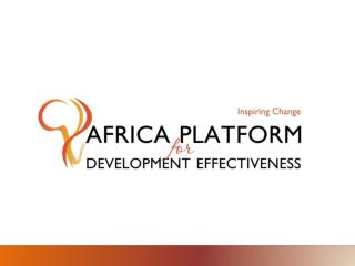 Africa is still facing significant development challenges