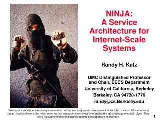 NINJA:  A Service Architecture for Internet-Scale Systems