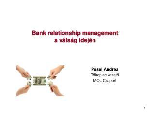 Bank relationship management  a válság idején