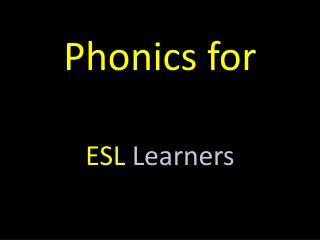 Phonics for