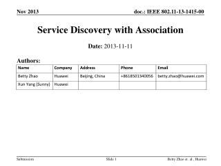 Service Discovery with Association