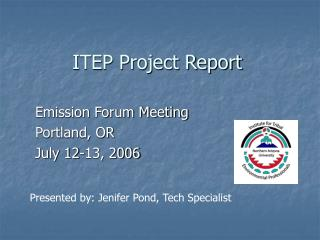 ITEP Project Report