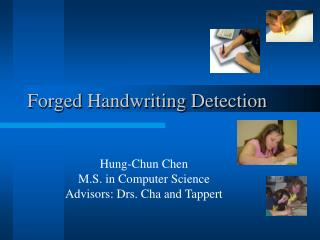 Forged Handwriting Detection