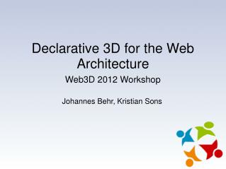 Declarative 3D for the Web Architecture