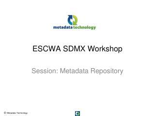 ESCWA SDMX Workshop