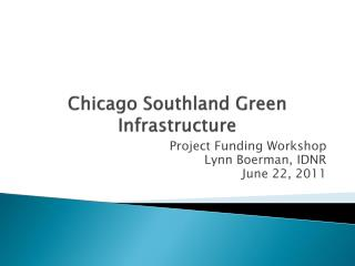 Chicago Southland Green Infrastructure