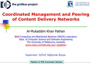 Coordinated Management and Peering of Content Delivery Networks