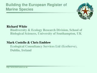 Building the European Register of Marine Species