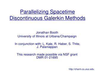 Parallelizing Spacetime Discontinuous Galerkin Methods