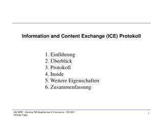 Information and Content Exchange (ICE) Protokoll