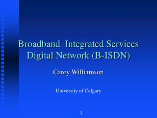 Broadband  Integrated Services Digital Network (B-ISDN)