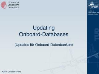 Updating Onboard-Databases