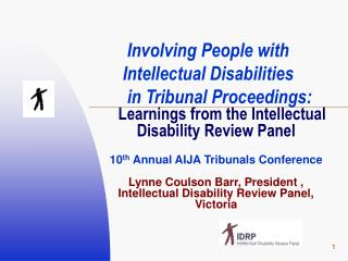 Involving People with Intellectual Disabilities  in Tribunal Proceedings:
