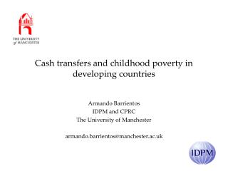 Cash transfers and childhood poverty in developing countries