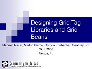 Designing Grid Tag Libraries and Grid Beans