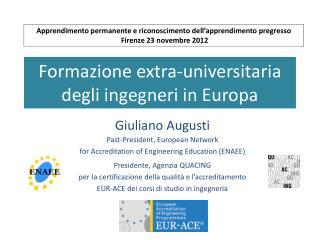Formazione extra-universitaria degli ingegneri in Europa