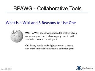 BPAWG - Collaborative Tools