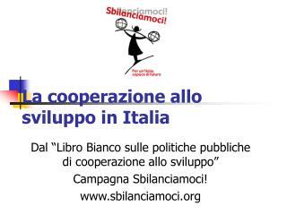 La cooperazione allo sviluppo in Italia