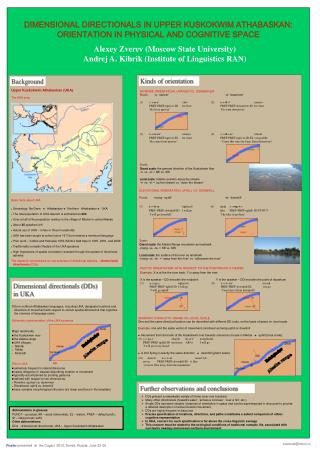 Poster  presented  at  the Cogsci '2010, Tomsk, Russia, June 22-26
