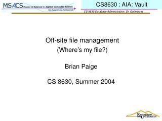 Off-site file management
