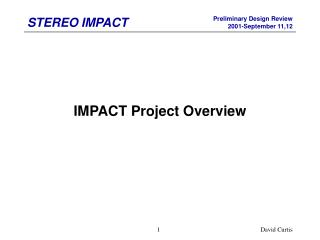 IMPACT Project Overview