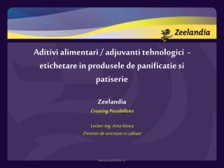 Aditivi alimentari / adjuvanti tehnologici  - etichetare in produsele de panificatie si patiserie