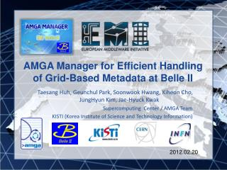 AMGA Manager for Efficient Handling of Grid-Based Metadata at Belle II