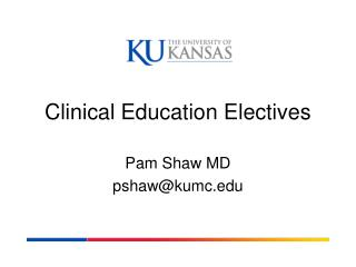 Clinical Education Electives