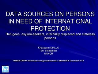 Khassoum DIALLO Snr Statistician UNHCR
