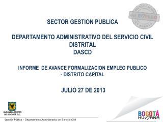 Gesti�n P�blica � Departamento Administrativo del Servicio Civil
