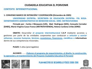 CIUDADELA EDUCATIVA EL PORVENIR