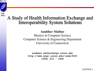 A Study of Health Information Exchange and Interoperability System Solutions