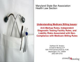 Maryland State Bar Association Health Law Section