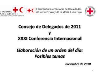 Reuniones estatutarias Movimiento Internacional de la Cruz Roja y de la Media Luna Roja