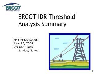 ERCOT IDR Threshold Analysis Summary