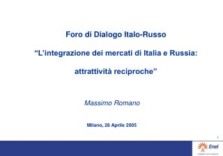 Massimo Romano Milano, 26 Aprile 2005