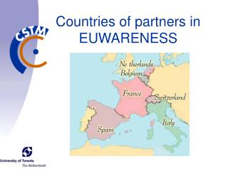 Countries of partners in  EUWARENESS