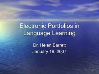 Electronic Portfolios in Language Learning